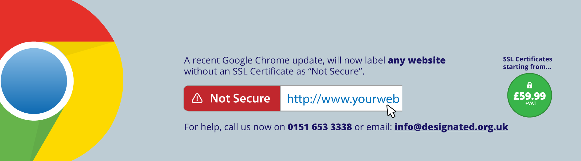 Your website without an SSL Certificate...